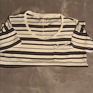 Black and white striped old navy shirt